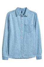 Washed denim shirt - Light denim blue - Men | H&M 3
