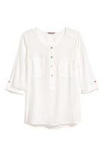 H&M+ Crêpe blouse - White - Ladies | H&M 2