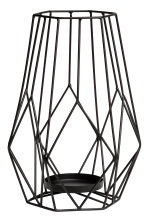 Large metal candlestick - Black - Home All | H&M CN 2