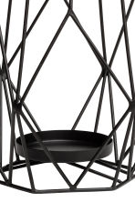 Large metal candlestick - Black - Home All | H&M CN 3