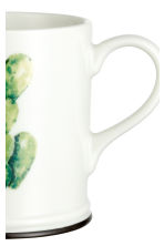 Porcelain mug with print motif - White/Cactus - Home All | H&M CN 2