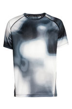 Short-sleeved running top - White/Patterned - Men | H&M CN 2