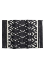 Jacquard-weave bath mat - Anthracite grey/Patterned - Home All | H&M CN 1