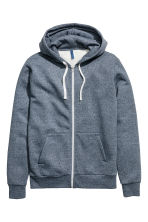 Hooded jacket - Dark blue marl - Men | H&M CN 2