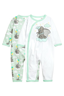 Pijamas inteiros, pack de 2