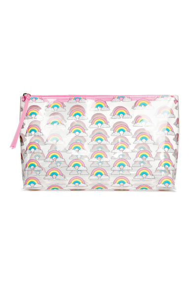 Transparent make-up bag - Pink/Rainbow - Ladies | H&M CN 1