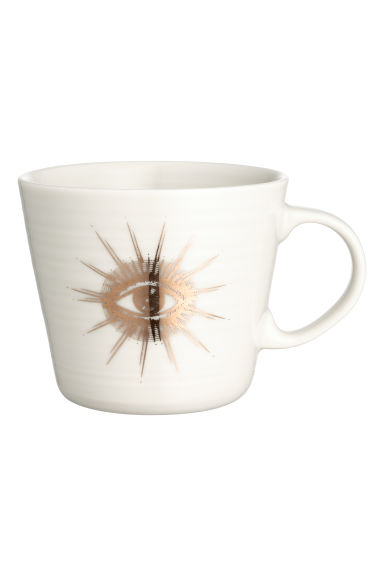 Tazza in porcellana con stampa - Bianco/sole - HOME | H&M IT 1