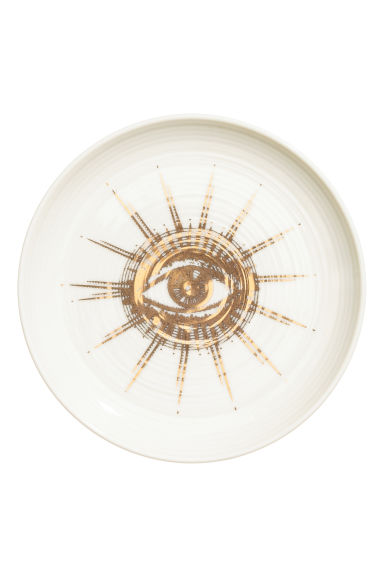 Printed porcelain plate - White - Home All | H&M CN 1