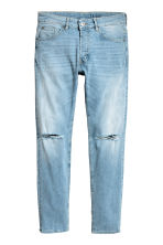 Skinny Low Trashed Jeans - Light denim blue - Men | H&M 2
