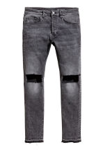 Skinny Low Trashed Jeans - Dark grey washed out - Men | H&M 2