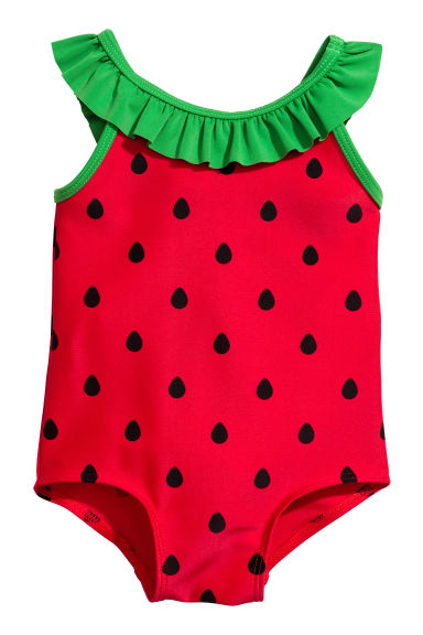 Patterned swimsuit - Red - Kids | H&M 1