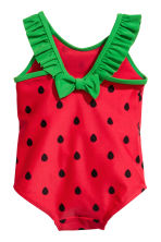 Patterned swimsuit - Red - Kids | H&M 2