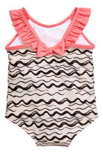 Patterned swimsuit - Natural white/Black - Kids | H&M 2