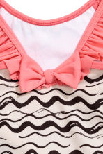 Patterned swimsuit - Natural white/Black - Kids | H&M 3