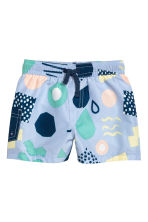 Patterned swim shorts - Light blue/Patterned -  | H&M 1