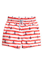 Patterned swim shorts - Red/White striped -  | H&M CN 1