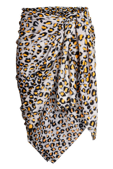 Patterned sarong - Grey/Leopard print - Ladies | H&M 1