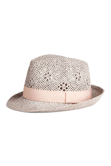 Straw hat - Light grey -  | H&M CA 1
