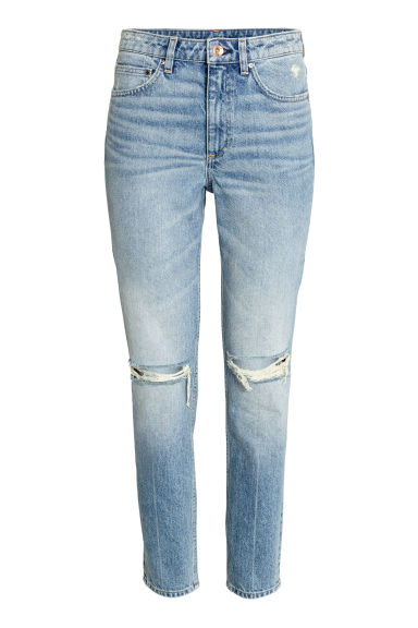 Relaxed Skinny Ankle Jeans - Light denim blue - Ladies | H&M CN 1