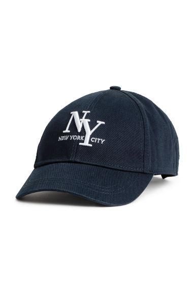 Cotton cap - Dark Blue/New York - Ladies | H&M