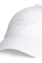Cotton cap - White - Ladies | H&M CN 3