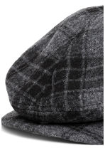Flat cap - Dark grey/Checked - Men | H&M CN 2