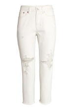 Vintage High Cropped Jeans - Natural white -  | H&M 2