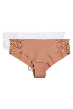 2-pack cotton hipster briefs - White - Ladies | H&M 2