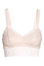 Lace bralette - Powder - Ladies | H&M 2