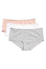3-pack shortie briefs - Grey marl - Ladies | H&M CN 2