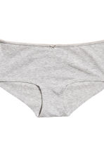 3-pack shortie briefs - Grey marl - Ladies | H&M 3