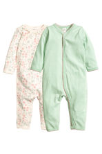 2-pack all-in-one pyjamas - Light green - Kids | H&M 1