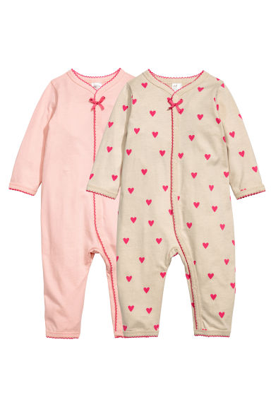 2件入連身睡衣 - Light pink - Kids | H&M 1