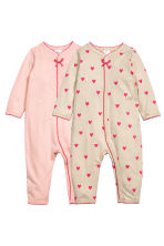 2-pack all-in-one pyjamas - Light pink -  | H&M CN 1