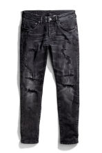 Skinny Low Trashed Jeans - Preto washed out - HOMEM | H&M PT 2