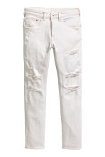 Skinny Low Trashed Jeans - White denim - Men | H&M 2