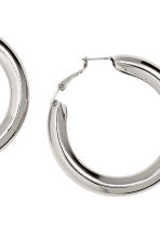 Hoop earrings - Silver -  | H&M CN 2