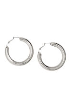 Hoop earrings - Silver -  | H&M CN 1