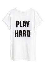 T-shirt with a motif - White - Ladies | H&M 3