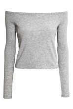 Top a spalle scoperte - Grey marl - DONNA | H&M IT 2
