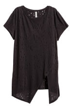 T-shirt effetto consumato - Nero - DONNA | H&M IT 2