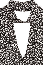 縐紗女衫 - Black/White/Patterned - Ladies | H&M 3