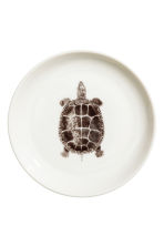 Small plate with a print motif - White/Turtle - Home All | H&M CN 2