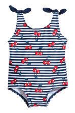 Swimsuit with bows - White/Cherry - Kids | H&M 1