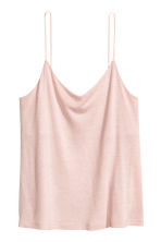 Jersey strappy top - Powder pink - Ladies | H&M CA 2