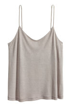平紋細肩帶上衣 - Light grey - Ladies | H&M 2