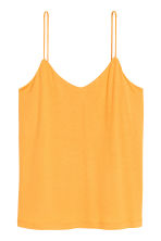 Jersey strappy top - Yellow - Ladies | H&M CN 2
