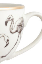 Printed porcelain cup - White/Flamingo - Home All | H&M CN 2