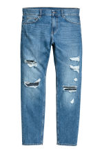 Slim Regular Trashed Jeans  - Blu denim - UOMO | H&M IT 2