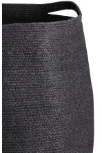 Jute laundry basket - Black - Home All | H&M CN 2